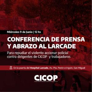 Conferencia de Prensa y Abrazo al Hospital Larcade