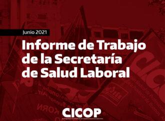 Informe de Trabajo de la Secretaría de Salud Laboral
