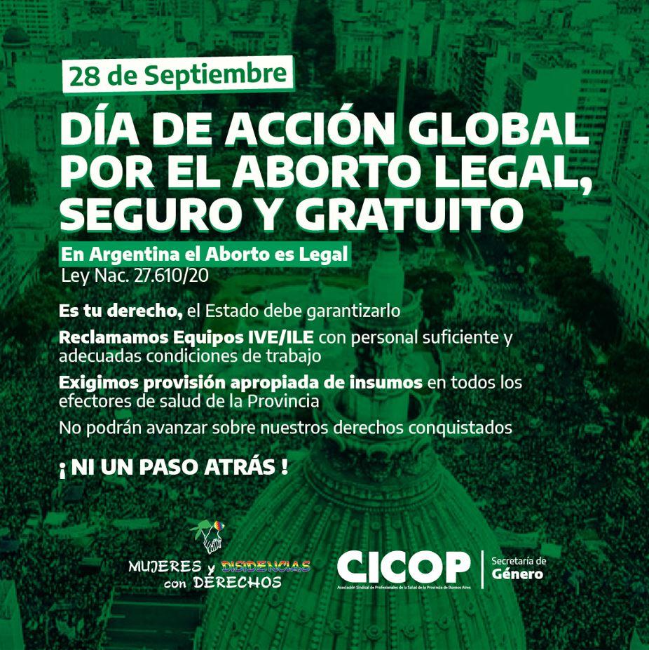 28 de Septiembre: Día de Acción Global por el Aborto Legal, Seguro y Gratuito